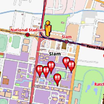 Bangkok Amenities Offline Map Amenimaps