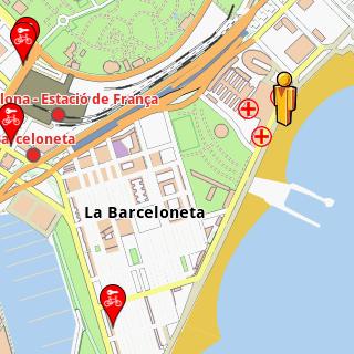 Barcelona Amenities Offline Map AmeniMaps