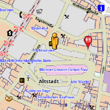 Freiburg Amenities Offline Map AmeniMaps