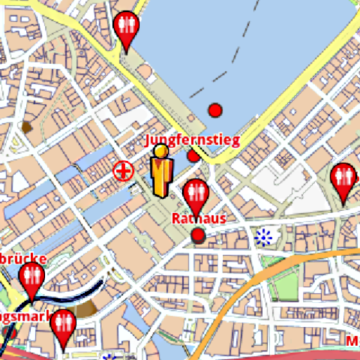 Hamburg Amenities Offline Map AmeniMaps