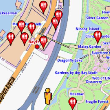Garden By The Bay Meadow singapore amenities offline map | amenimaps